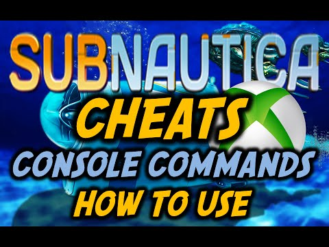 SUBNAUTICA XBOX CHEATS /Console Commands Tutorial
