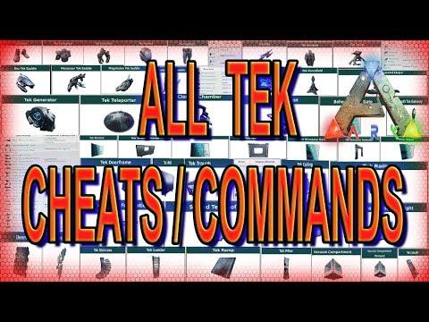 Ark All Tek Cheats / Commands – PC / PS4  / XBOX . 100% Tek short Admin commands / short cheats