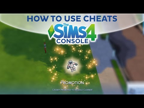 HOW TO USE CHEATS / The Sims 4 Console (PS4, Xbox One)