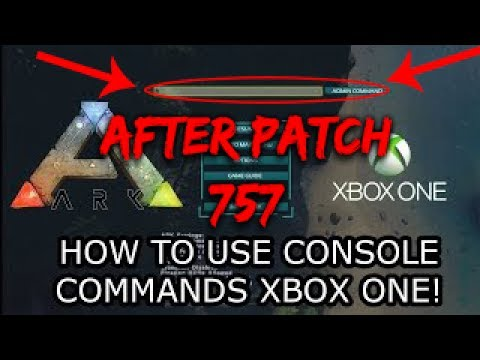 How To Use Admin Commands After Patch 757 in Ark Survival Xbox One READ DESCRIPTION