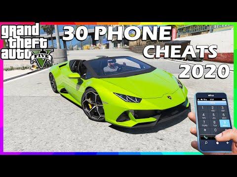 GTA 5   30 PHONE CHEATS   🎮 2020 ( PS3, PS4, Xbox360, XboxOne & PC )